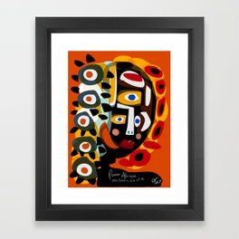 African Woman is dreaming in the sunrise Framed Art Print