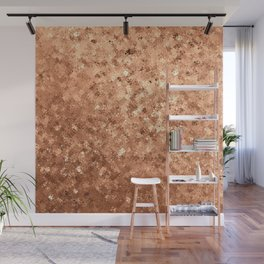 Geometrical elegant abstract faux gold ombre Wall Mural