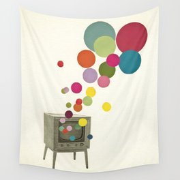 Colour Television Wall Tapestry
