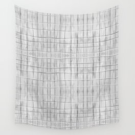 Soft Gray Plaid Wall Tapestry
