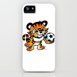 Soccer Tiger (color) square iPhone Case
