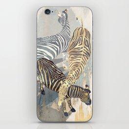 Metallic Zebras iPhone Skin