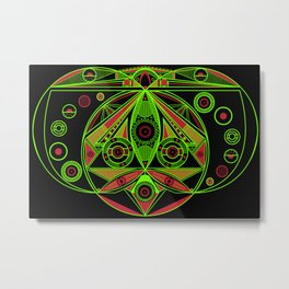 The third eye (Black) Metal Print