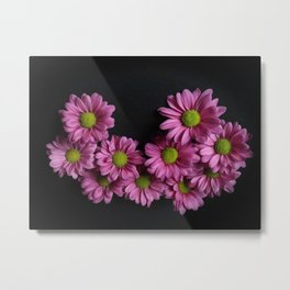 Artsy in Pink and Green Metal Print