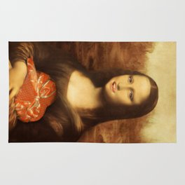 Mona Lisa Loves Valentine's Candy Rug