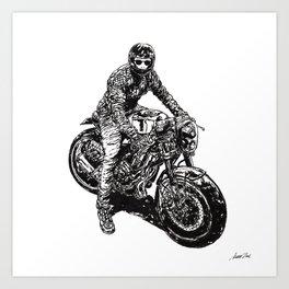 Motorcycle Rider 10 RAW Art Print