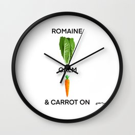 Romain Calm and Carrot On Wall Clock