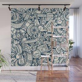 car doodle 2 Wall Mural