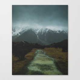 Hiking around the Mountains & Valleys of New Zealand Canvas Print