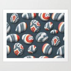 Agate Pebble Art Print
