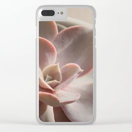 Pink Echeveria #3 Clear iPhone Case