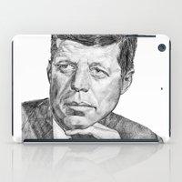 jfk iPad Cases featuring JFK by Monifa Charles