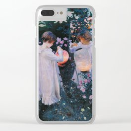 John Singer Sargent - Carnation, lily, lily, rose Clear iPhone Case