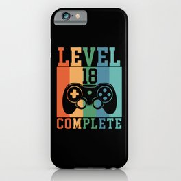 Birthday Level 18 Complete Gaming iPhone Case