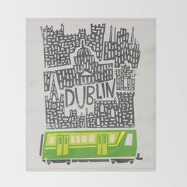 Dublin Cityscape Throw Blanket