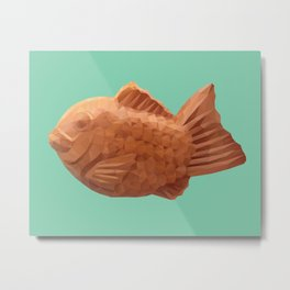 Taiyaki polygon art Metal Print