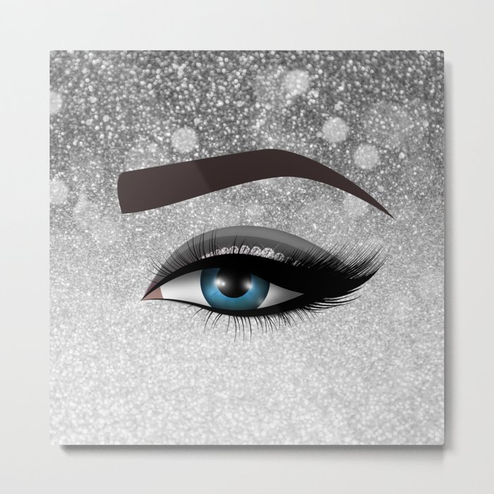 Glam diamond lashes eye #1 Metal Print