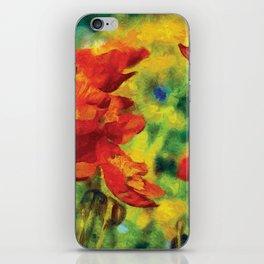 Poppies Van Gogh Modern Style Bold iPhone Skin