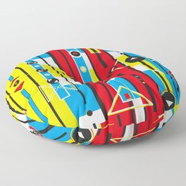 Graphic retro weave Floor Pillow