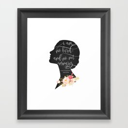 I am no Bird - Charlotte Bronte's Jane Eyre Framed Art Print
