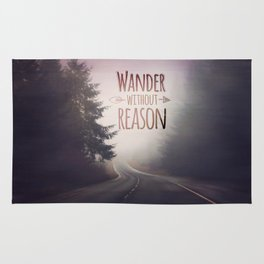 wander without reason Rug