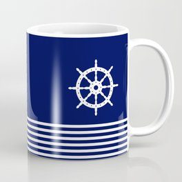 AFE Navy & White Helm Wheel Coffee Mug