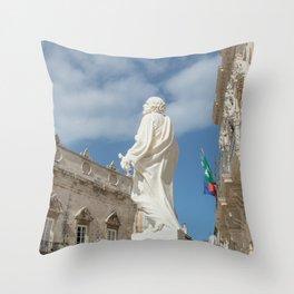 Statue of St. Peter Ortigia Syracuse Throw Pillow