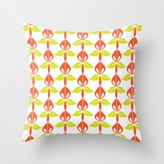 Orchid Kiely Throw Pillow