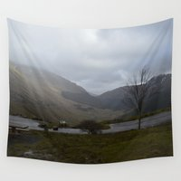 scotland Wall Tapestries featuring Scotland Mountain Side by Ashley Callan