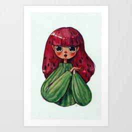 An affectionate Watermelon Art Print