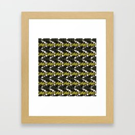 Step into the woods Framed Art Print