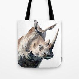 Portrait of a Rhinoceros Tote Bag