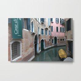 Venetian streets -canals .Carlo Galdoni Museum Metal Print