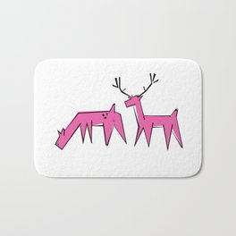 Pink deer  Bath Mat