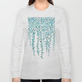 String Of Pearls plants watercolor 2 Long Sleeve T-shirt