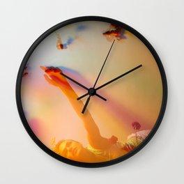 Blooming Colors Wall Clock
