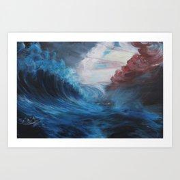 Battle in Blue Art Print