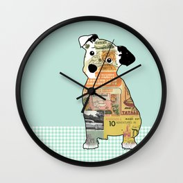 Jack Russel Collage  Wall Clock