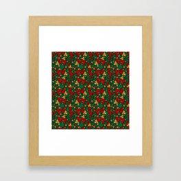 Strawberry pattern in traditional russian style hohloma khohloma Framed Art Print