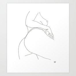 SY_draws 'Peachy' Art Print