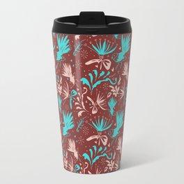 Fantail Frolic Rust Pattern Travel Mug