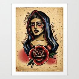 virgen tattoo Art Print