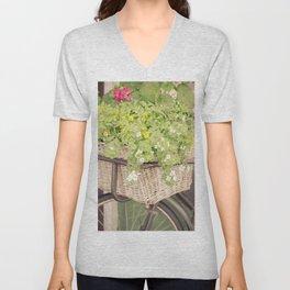 Vintage Blooms Unisex V-Neck