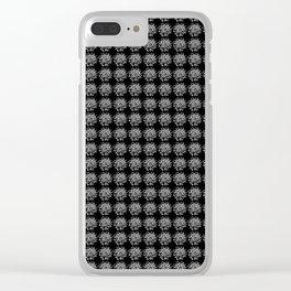 zakiaz Black & White Marker Swirl Clear iPhone Case