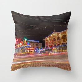 Pike Market at Night Throw Pillow