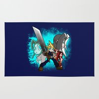 scott pilgrim Area & Throw Rugs featuring Cloud Pilgrim by CjBouchermedia