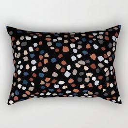 Terrazzo Blue & Rust Copper Dots _abstract  Rectangular Pillow