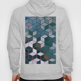 Muted Color Hexagons Blush Blue Mint Pattern Hoody