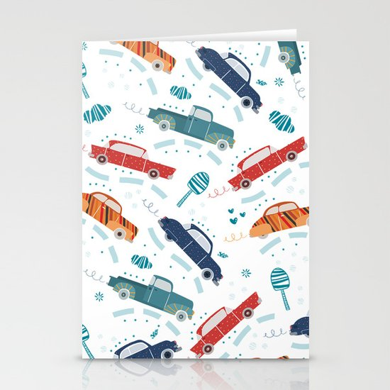 50's cars Stationery Cards
