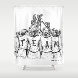 """TEAM"" (The Art of Lax™) Shower Curtain"